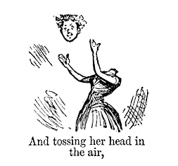 Extract from a cartoon by Priestman Atkinson, from the Punch Almanack for 1885, mocking clichéd expressions in the popular literature of the time