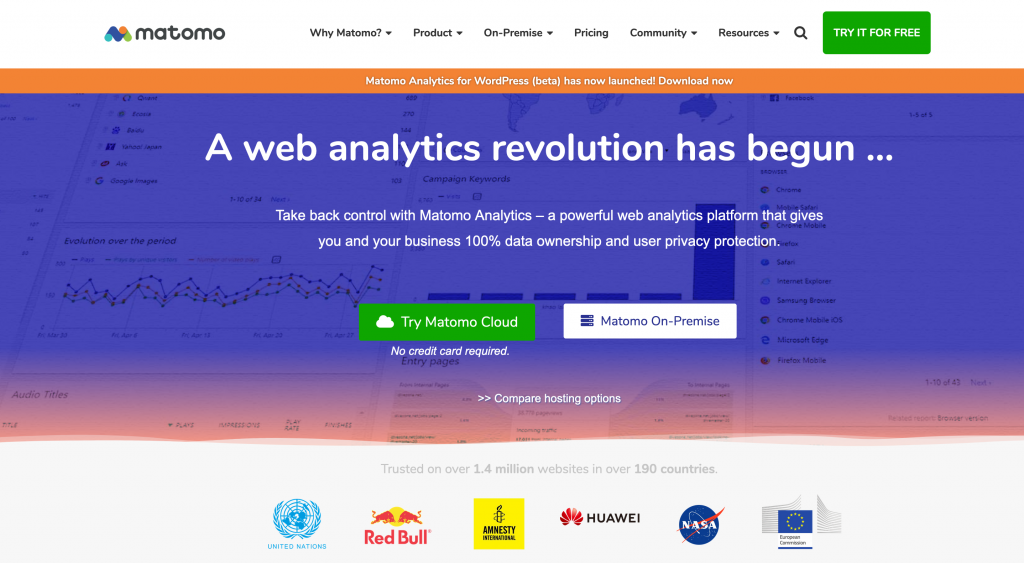 Matomo analytics - open source